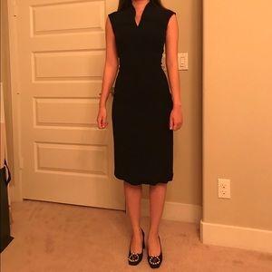 BOSS HUGO BOSS V-neck sleeveless black dress NWT 2